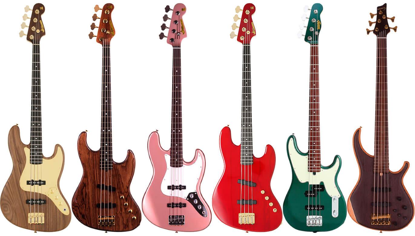 ムーンギターズのエレキベースについて